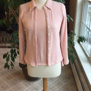 J.Jill pale pink shirt set in size S and XS